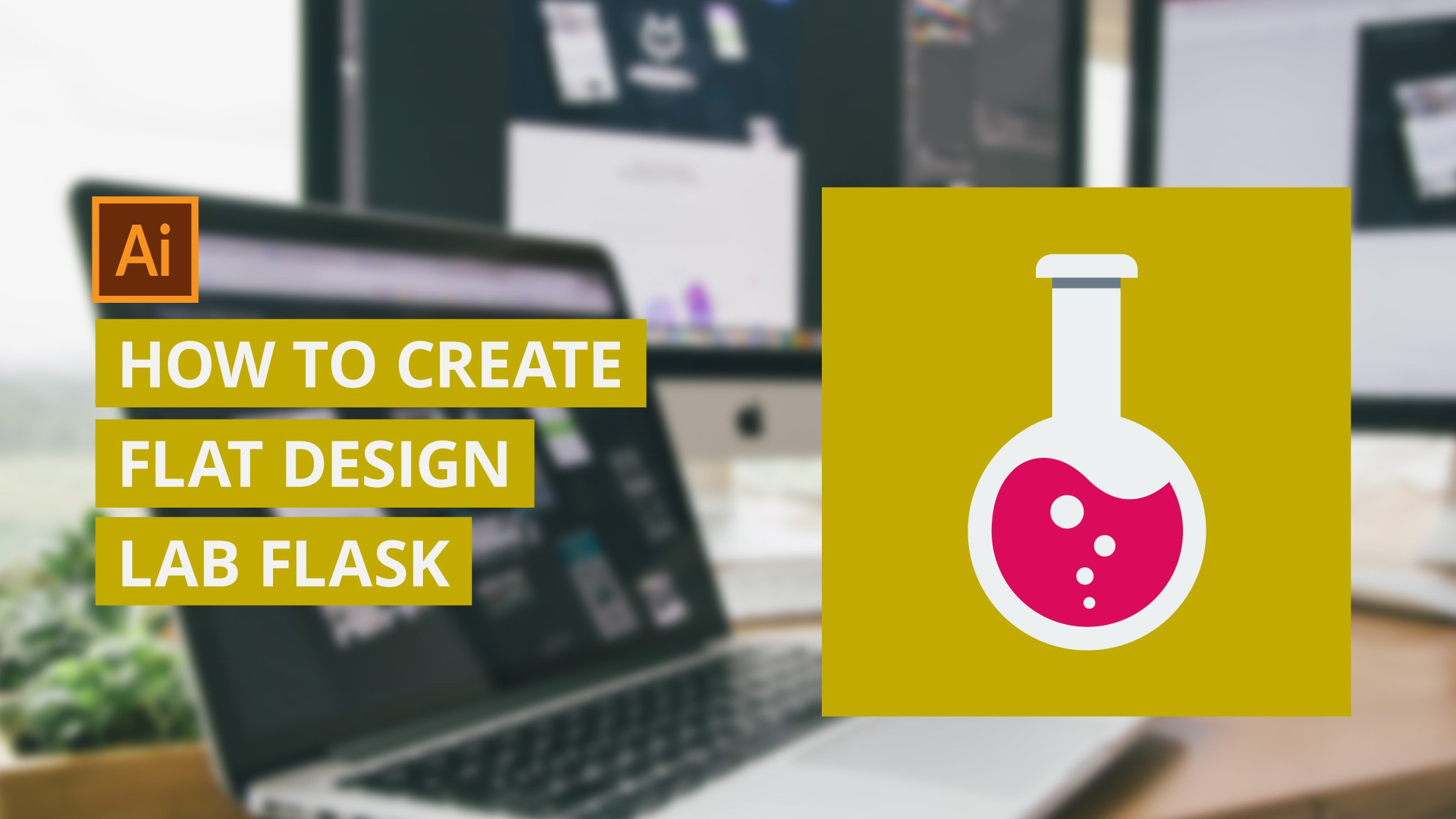 Flat Design: How To Create A Lab Flask Flat Icon in Illustrator
