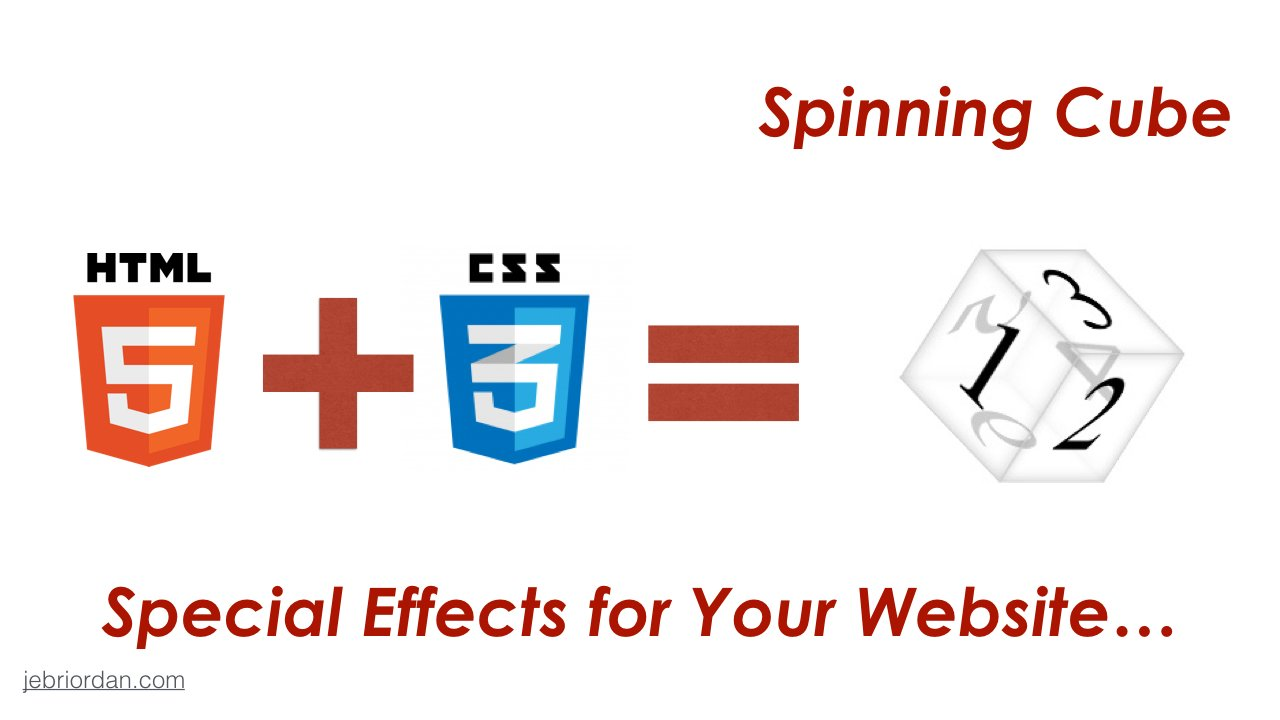 Web Design with HTML5 + CSS3 Special Effects :: Create Rotating Cubes