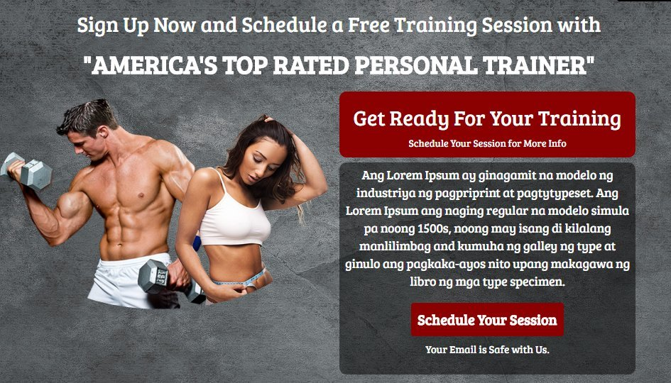 Responsive Fitness Training Landing Page in Bootstrap from Scratch