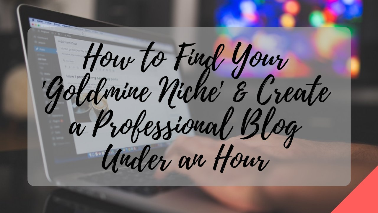 The Profitable Blogger #1: Learn to Create Your Professional Blog Under an Hour
