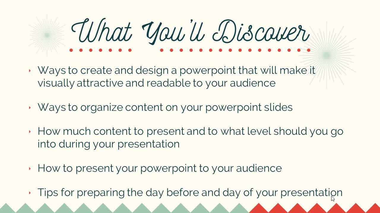 Creating and Presenting PowerPoint
