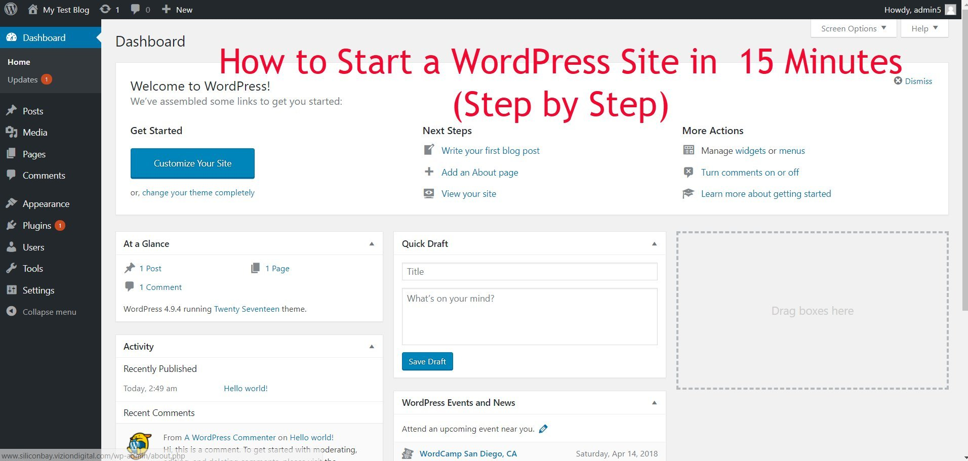 How to Start a WordPress Site in  15 Minutes (Step by Step)