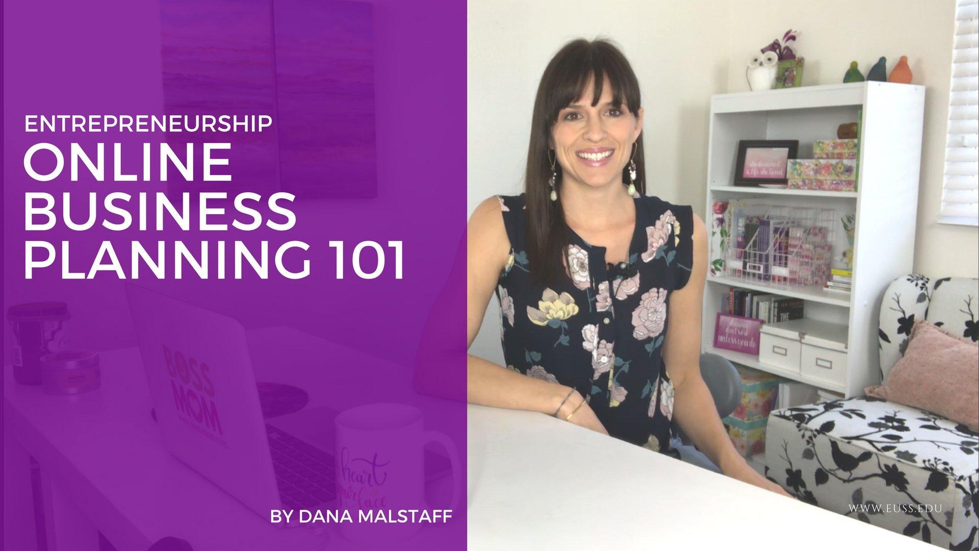 Entrepreneurship: Online Business Planning 101
