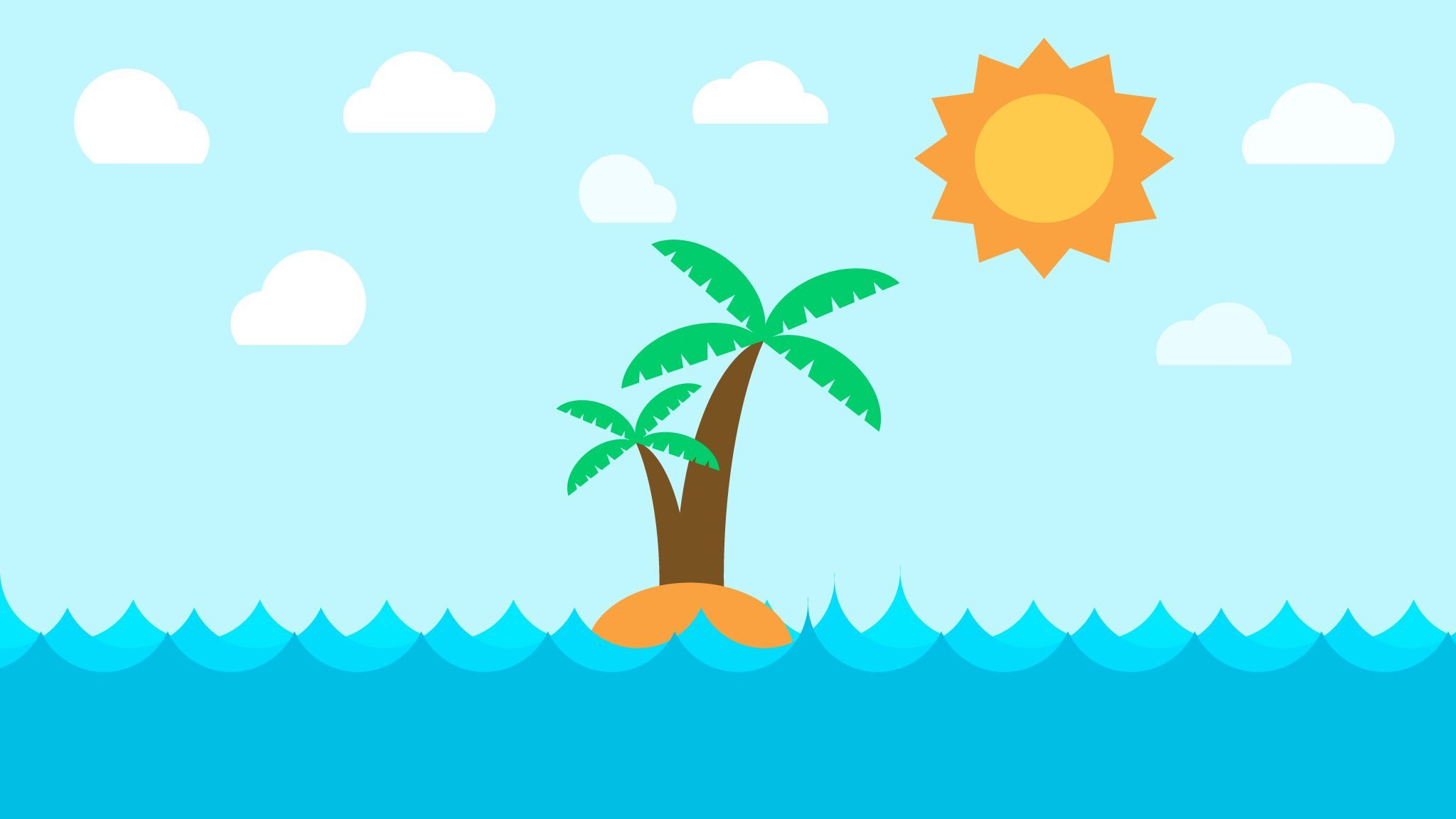 How To Create A Flat Design Island in Affinity Designer