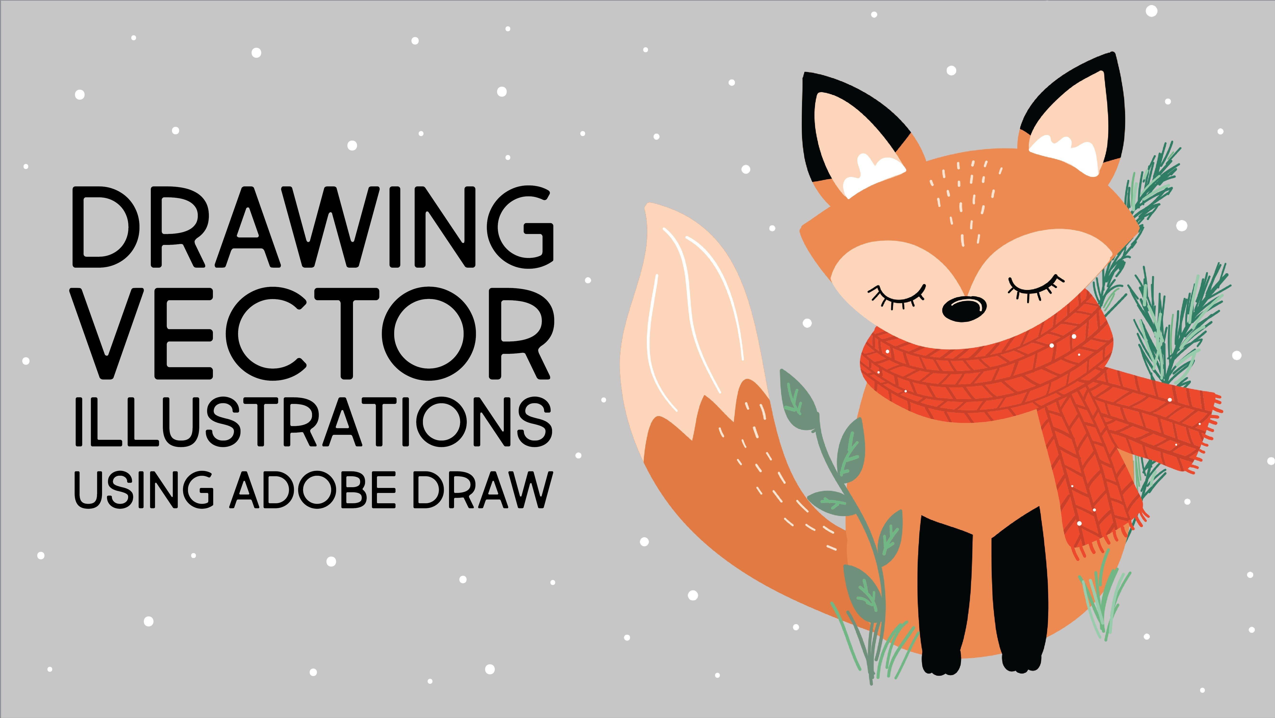 Vector Graphic Illustrations - Drawing on the iPad Pro in Adobe Draw - Digital animal illustrations