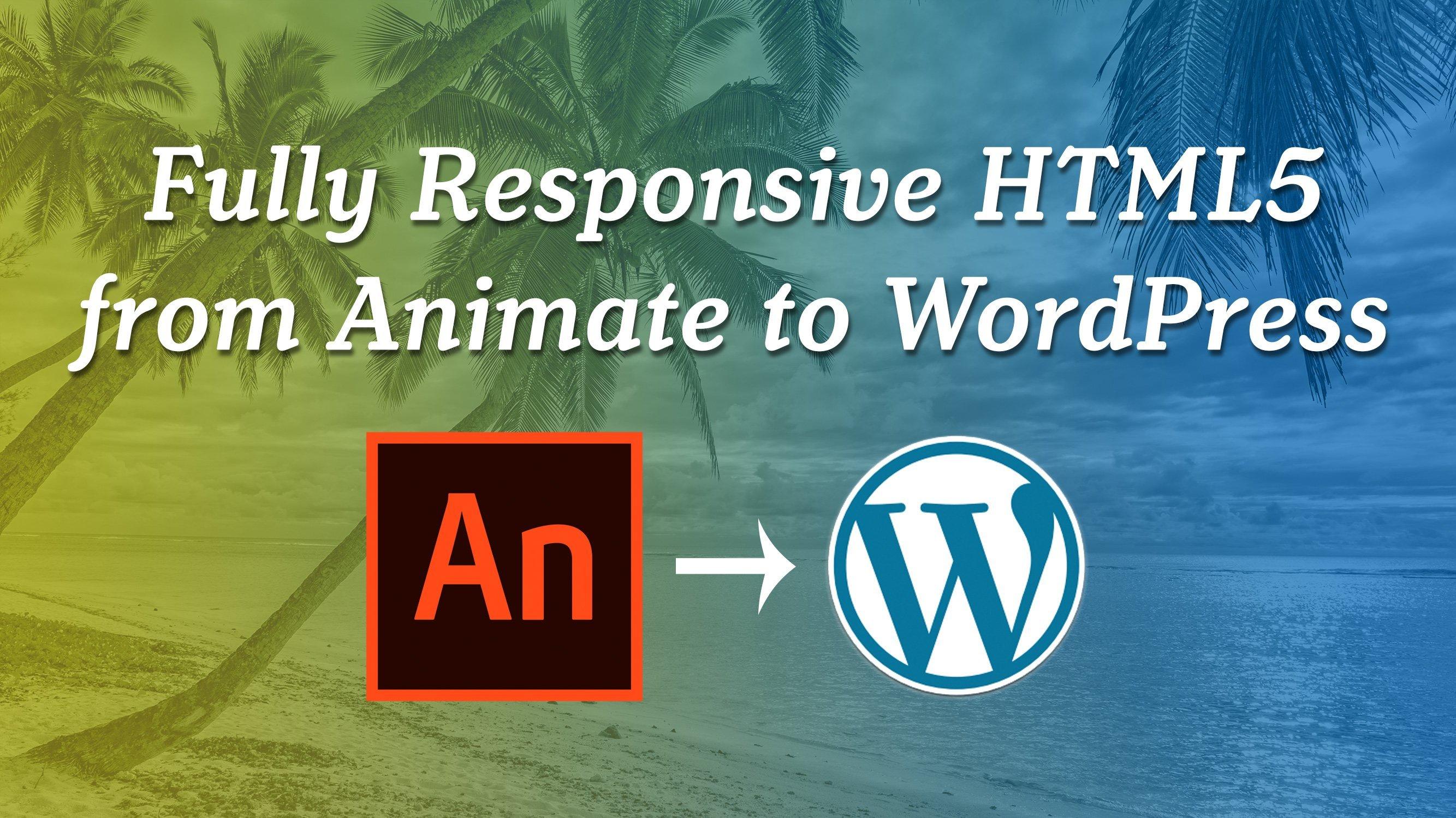 How to make Adobe Animate CC 2019 HTML5 Canvas Responsive on WordPress