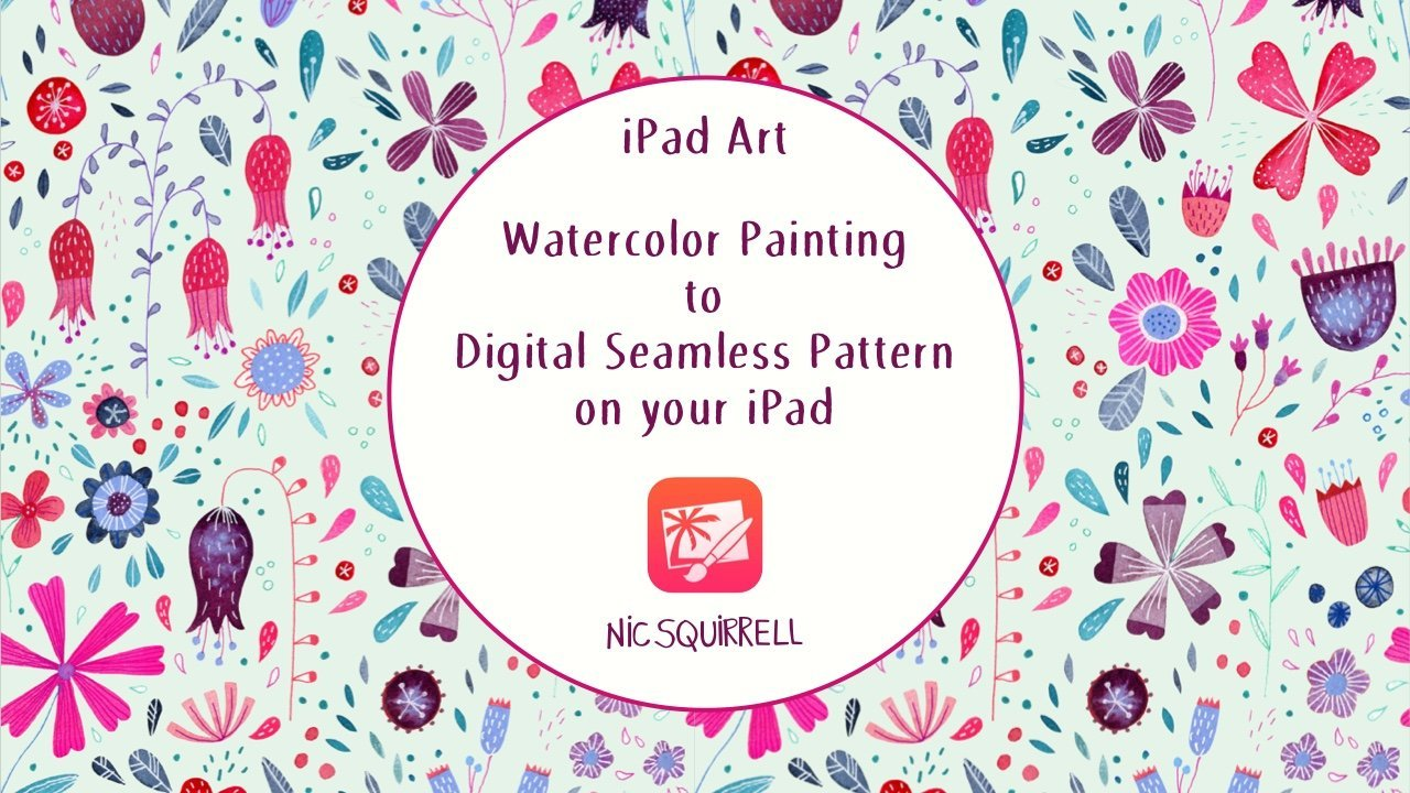 iPad Art: Watercolor Painting to Digital Seamless Pattern on your iPad