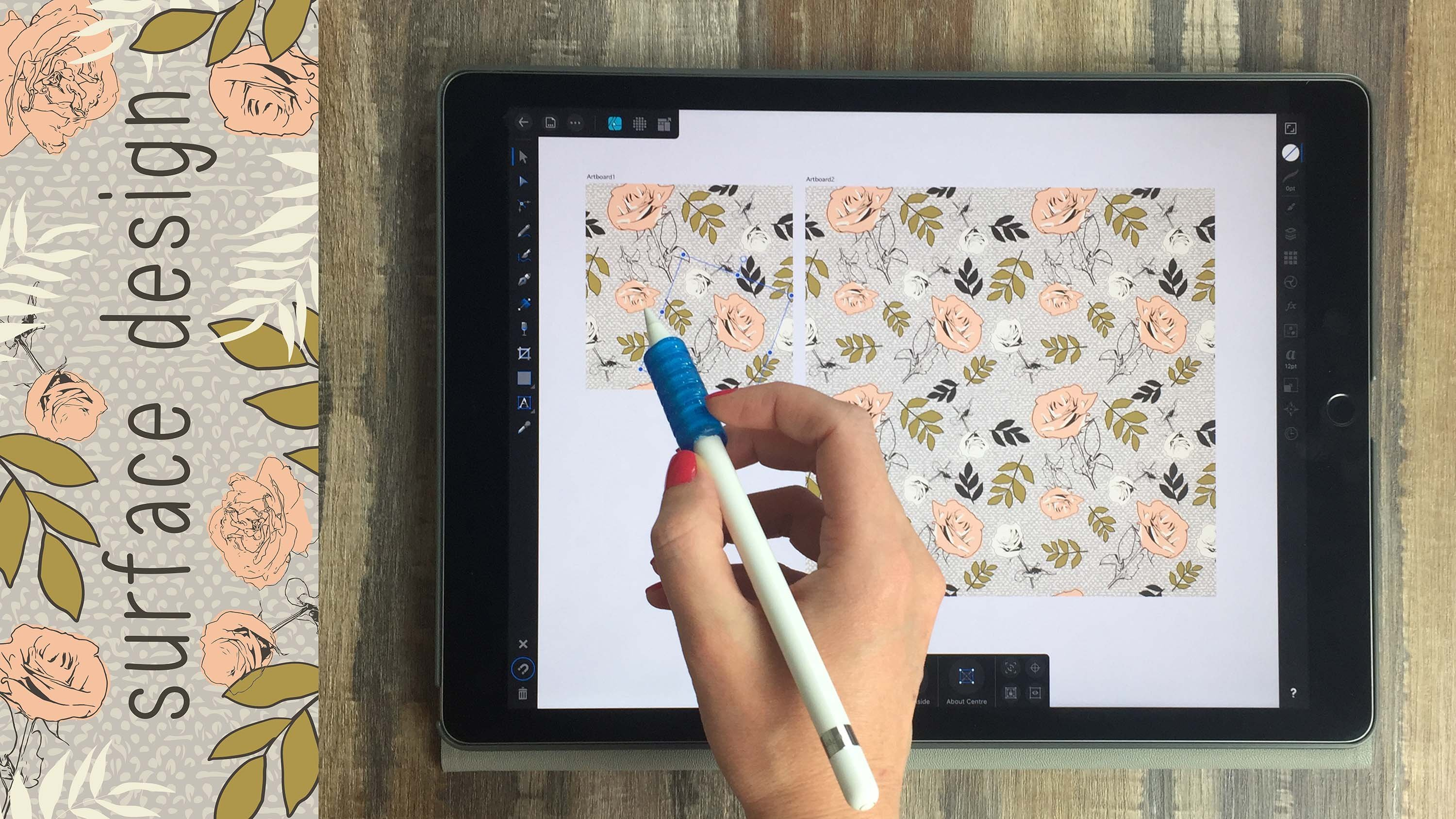 iPad Surface Design in Affinity Designer: Vectors, Textures, Artboards, and Repeat Patterns