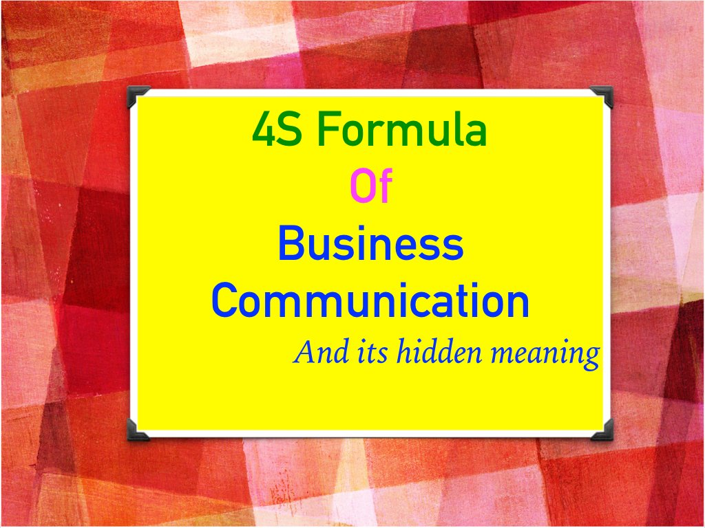 Business Communication - 4S
