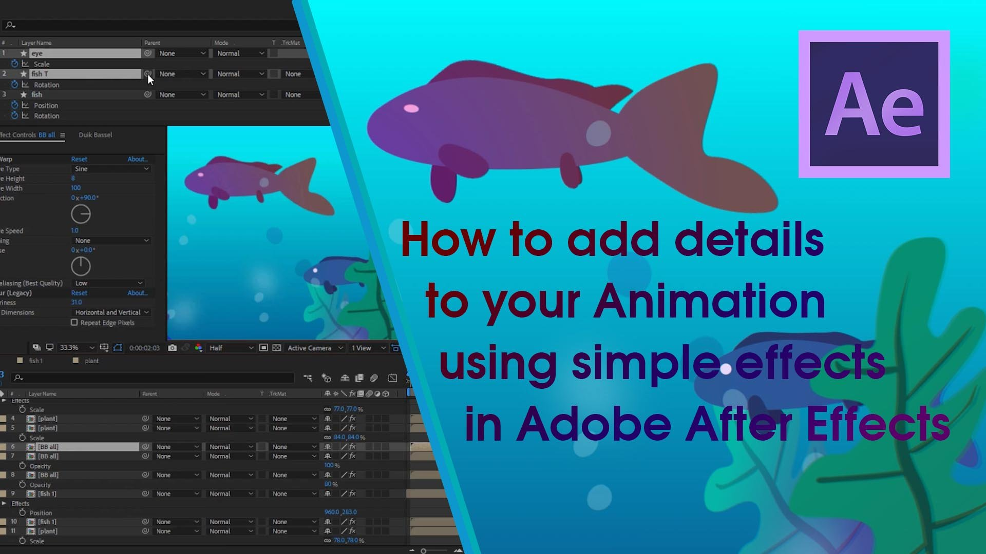 How to add details to your Animation using simple effects in Adobe After Effects