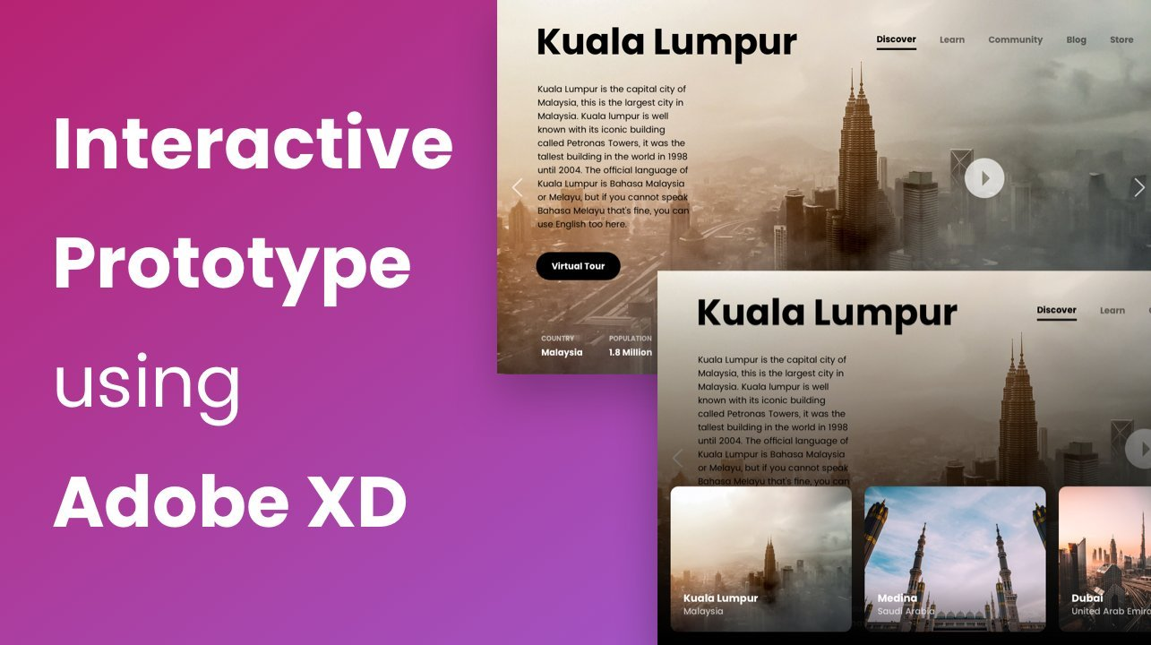 From Sketch to Adobe XD: UI Design and Interactive Prototype
