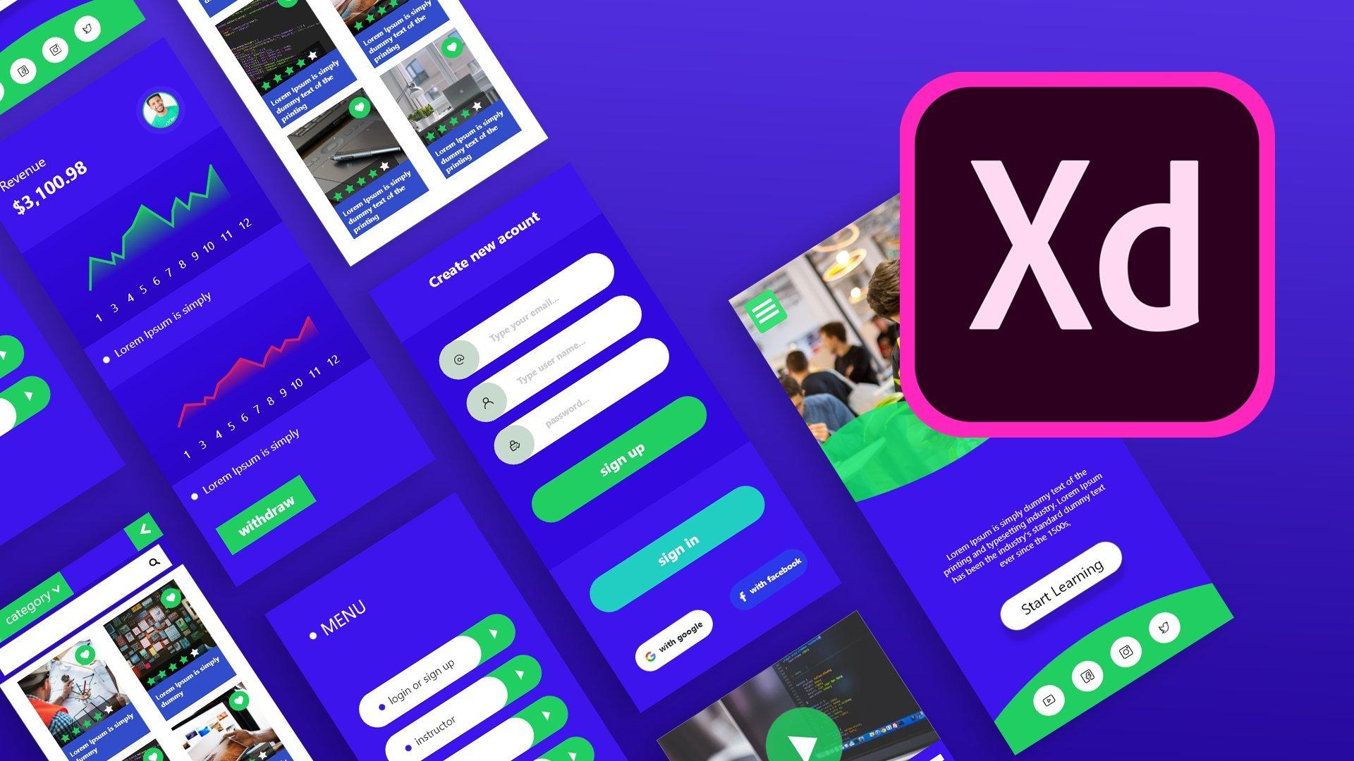 Adobe XD Masterclass : UI Design