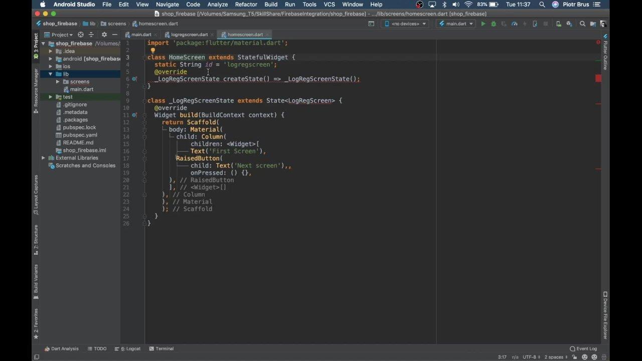 Flutter: Firebase Integration