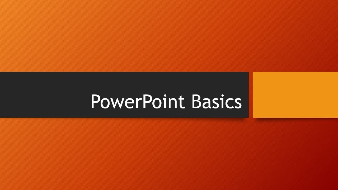 Microsoft PowerPoint Basics - How to make PowerPoint Presentations