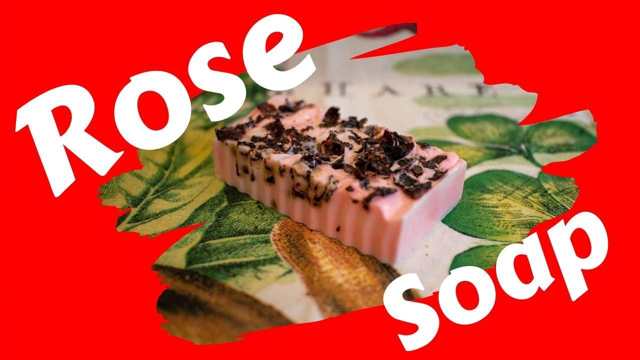 Rose Melt & Pour Soap Bar - Handmade Melt & Pour Soap Home Business Starter Kit