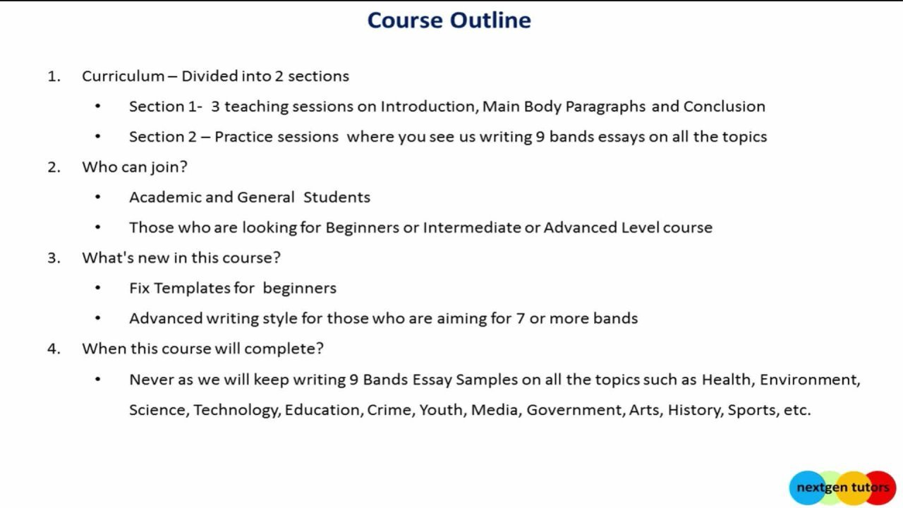 9 Bands IELTS Essay Writing Course
