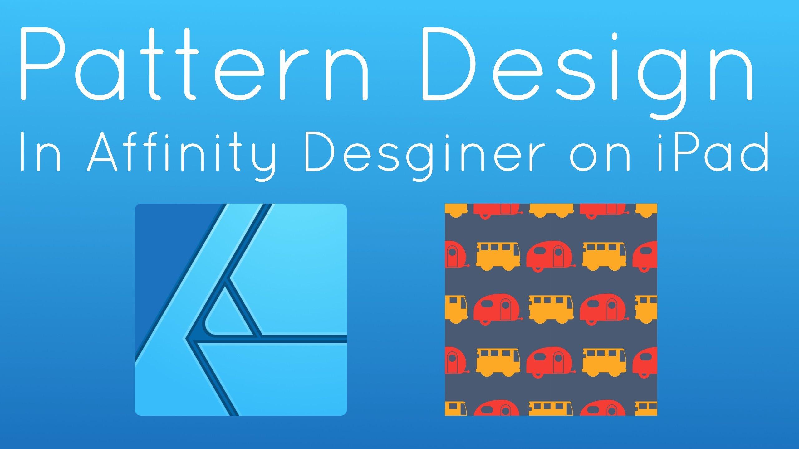 Pattern Design in Affinity Designer on iPad