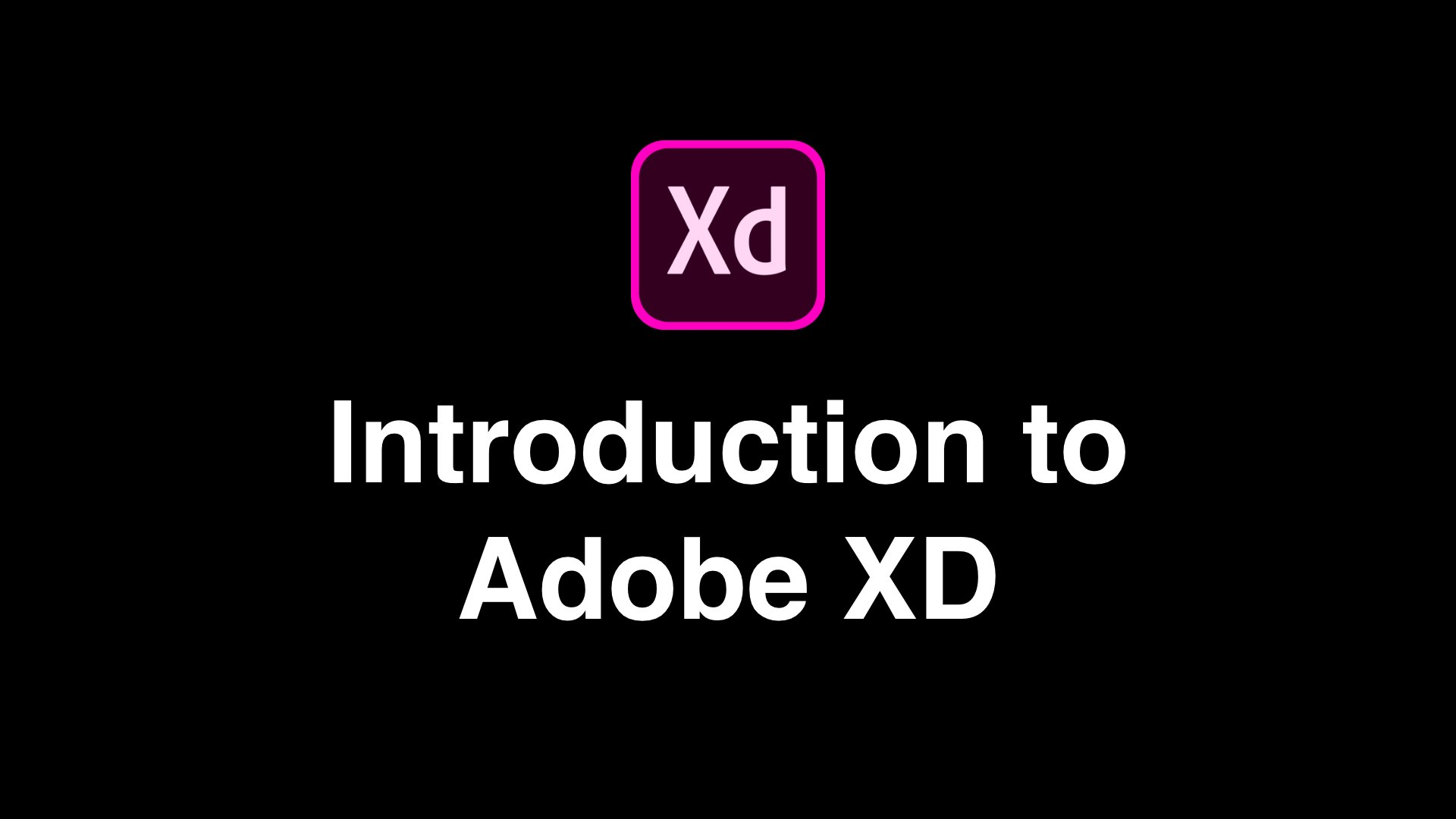 Getting Started with Adobe XD
