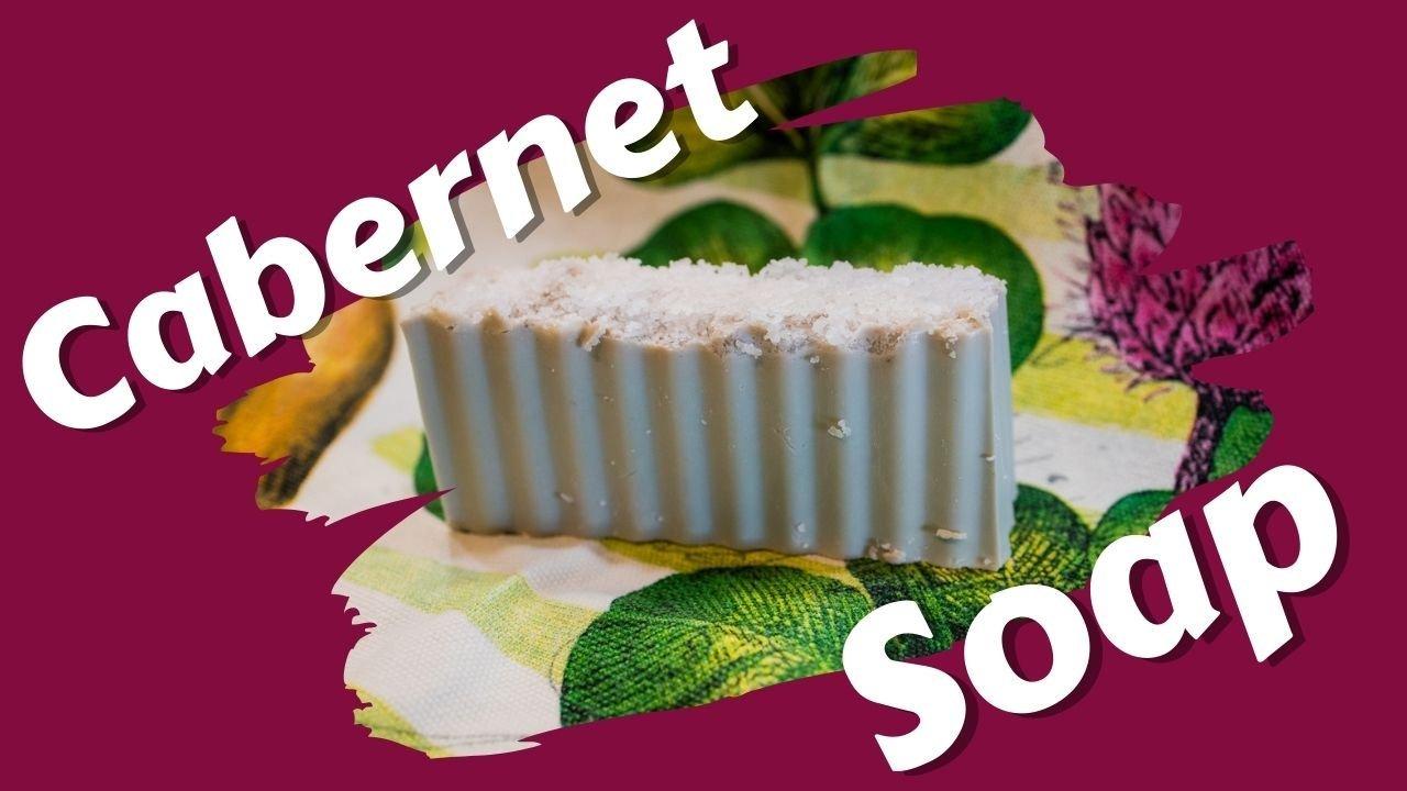 Cabernet Wine Melt & Pour Soap Bar - Handmade Melt & Pour Soap Home Business Starter Kit