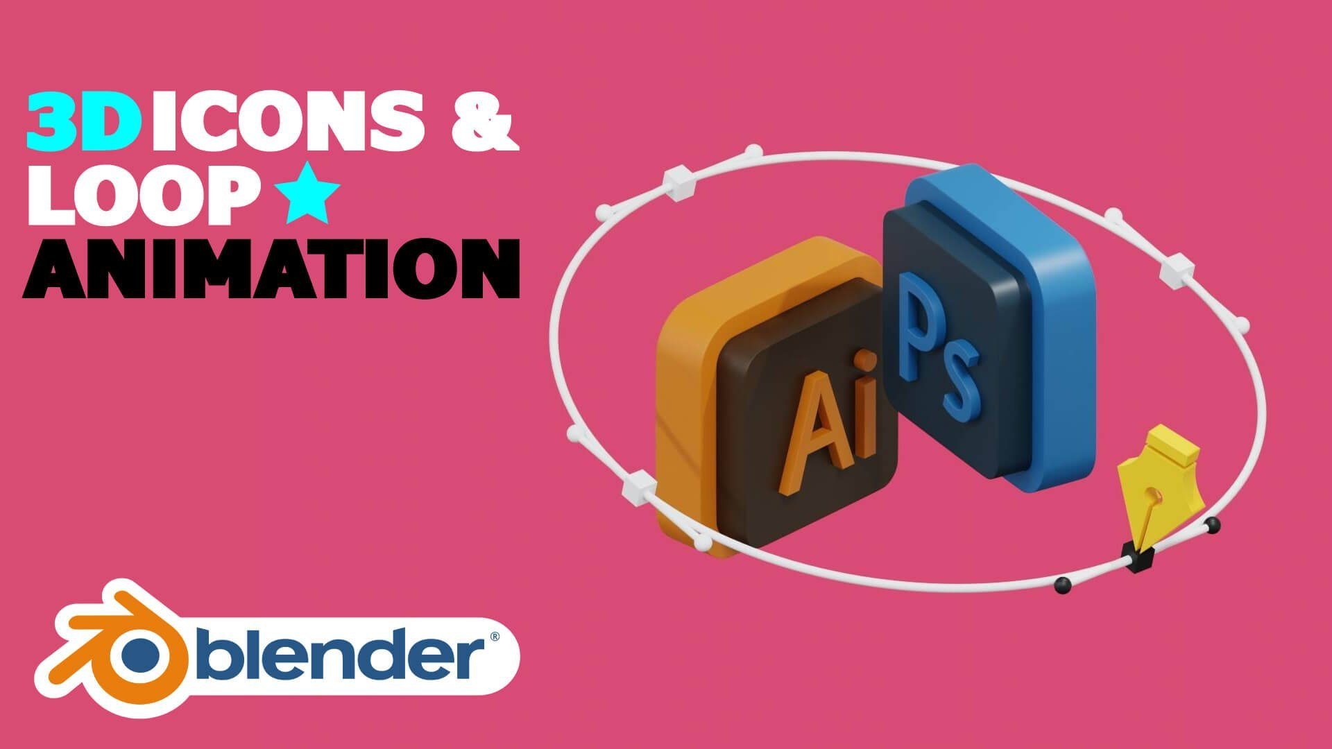 Make A Loop Animation With A 3D Icons Using Blender