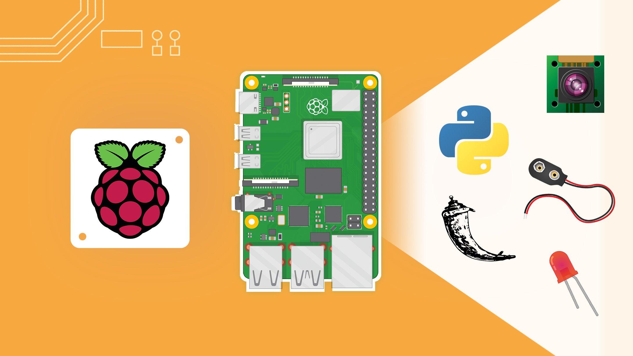 Raspberry Pi [4] for Beginners - Python3, GPIOs, Pi Camera, Flask, and More!