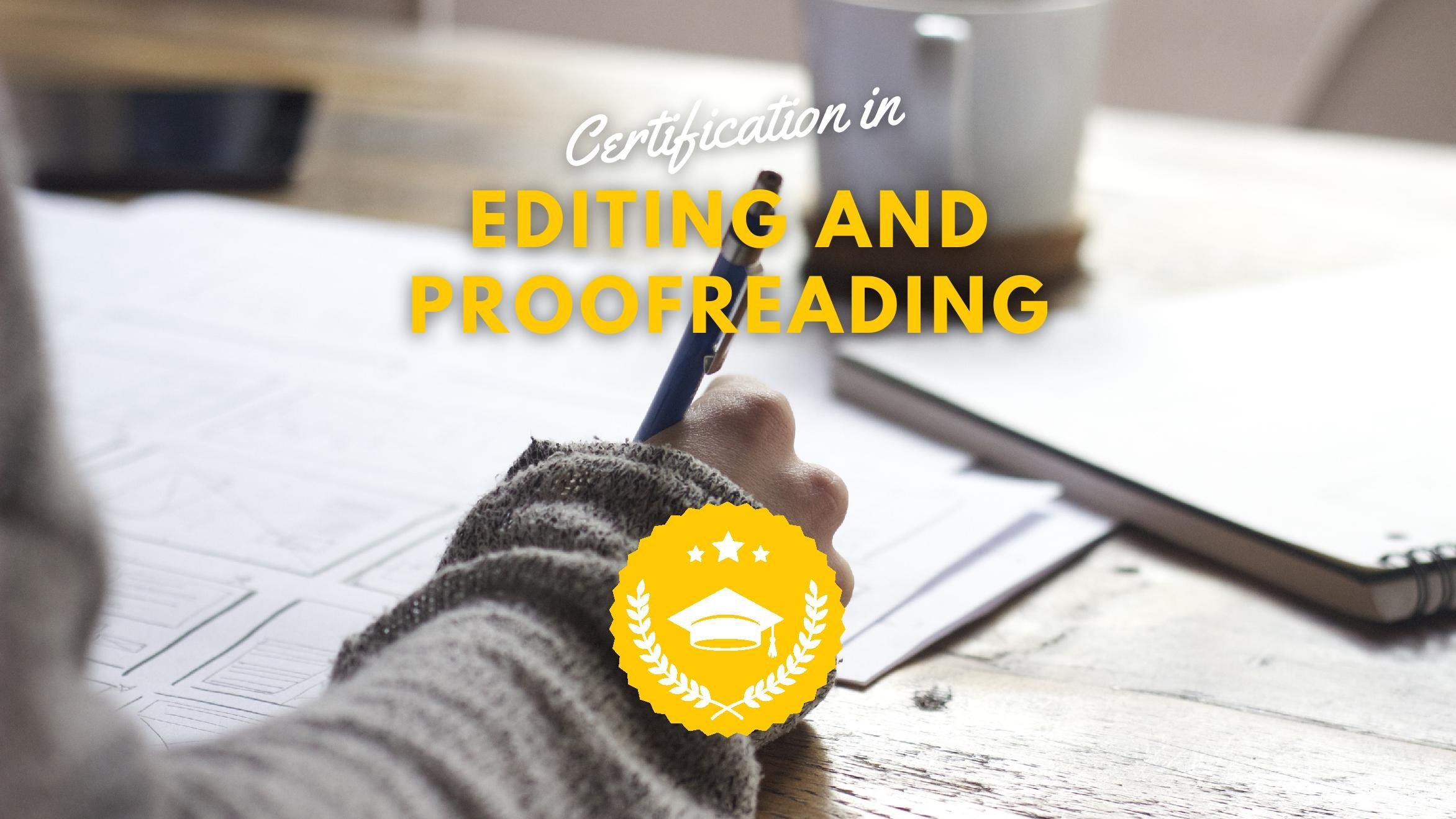 Certification in Editing and Proofreading