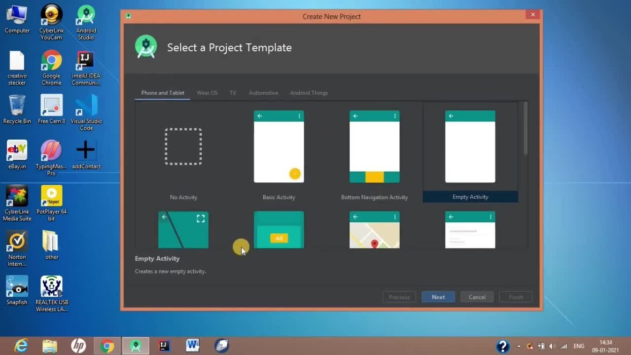 Android App  Development in Hindi Masterclass using Android studio