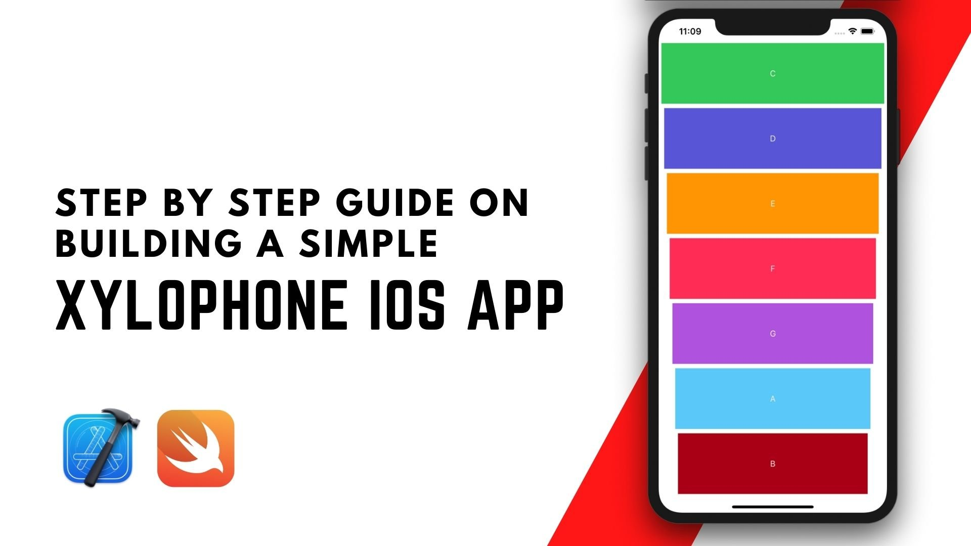 Build a Simple Xylophone App - iOS Development Step by Step Guide